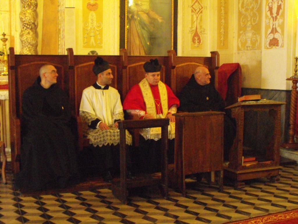 Le RP Prieur, Don Tomaso, Don Carmelo et Fr. Gabriel.