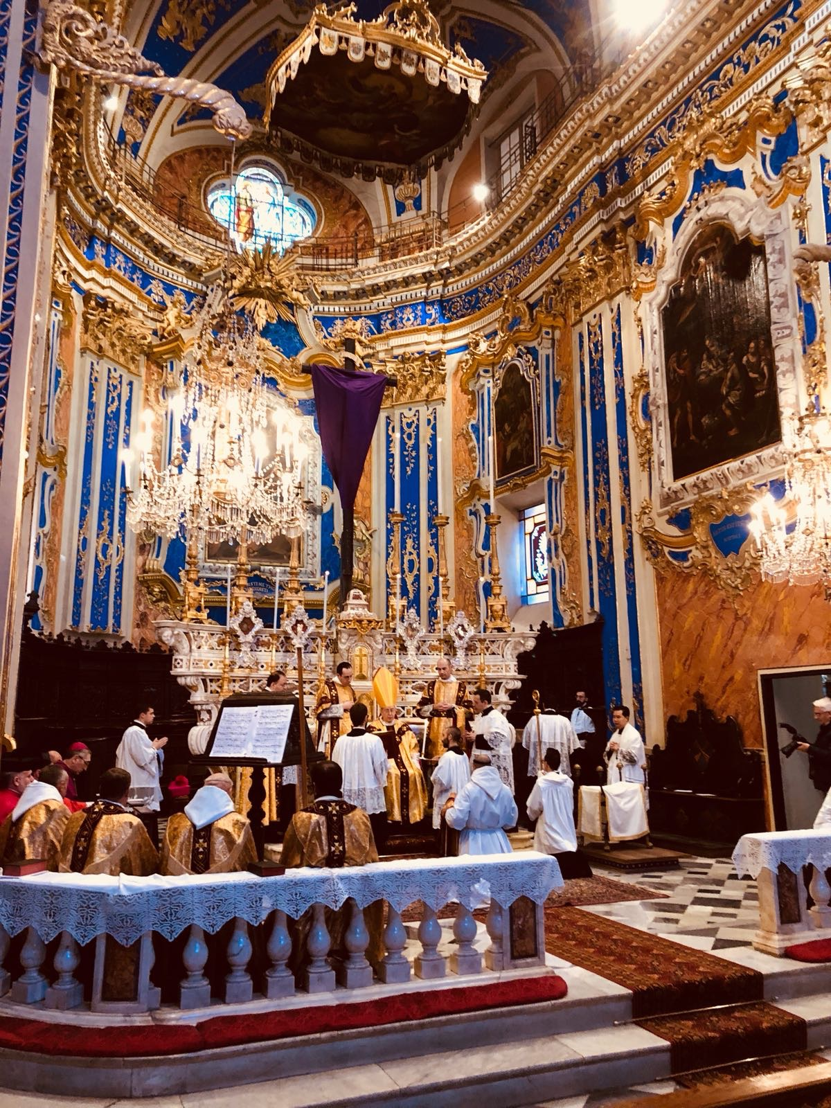 Le chœur de l'église de Dolcedo